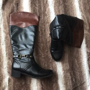 Rampage Two-tone Riding Boots. Size 7